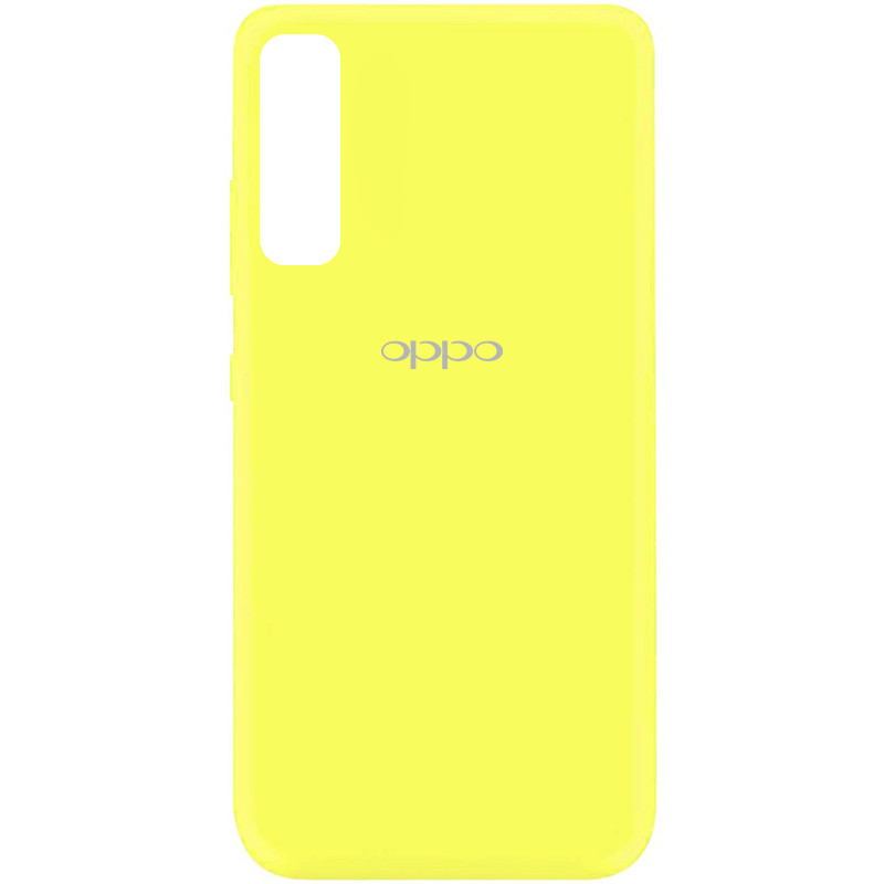 Чехол Silicone Cover My Color Full Protective (A) для Oppo Reno 3 Pro (Желтый / Flash)