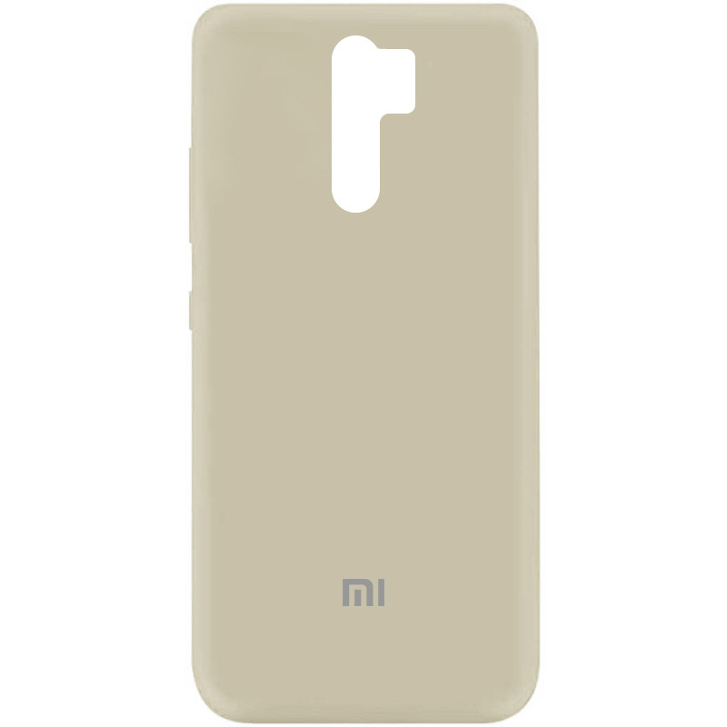 Чехол Silicone Cover My Color Full Protective (A) для Xiaomi Redmi 9 (Бежевый / Antigue White)