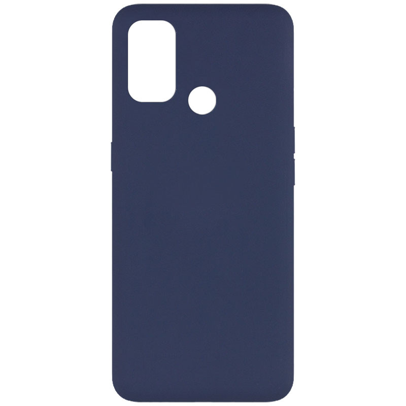 Уценка Чехол Silicone Cover Full without Logo (A) для Oppo A53 / A32 / A33 (Дефект упаковки / Синий / Midnight blue)